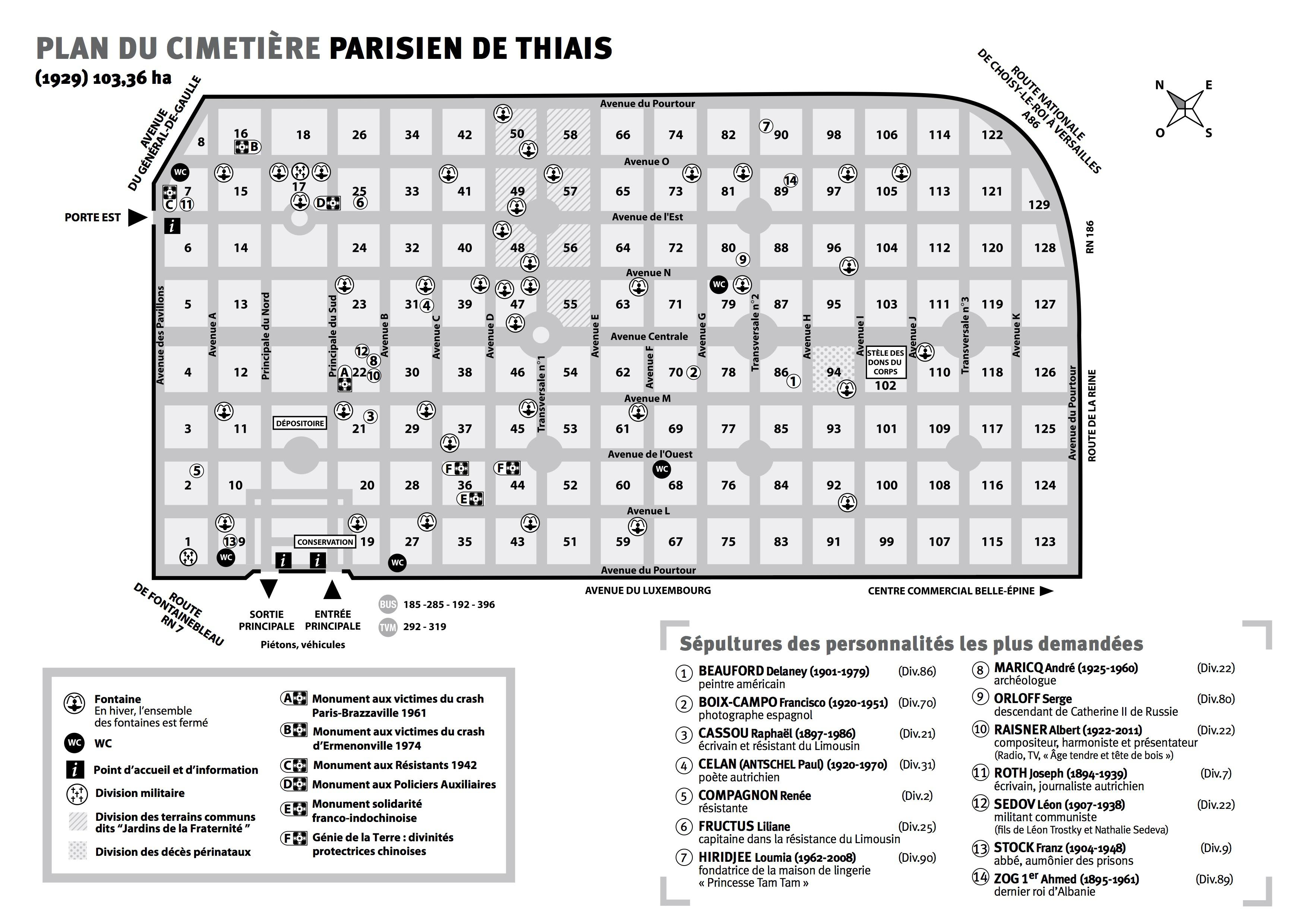 Agence Cridel Thiais Vitry Sur Seine - carte cimetiere Thiais